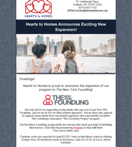 Hearts to Homes Announces Exciting News!