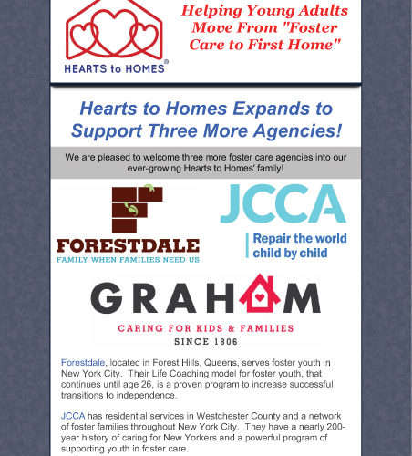 Hearts to Homes Expands!